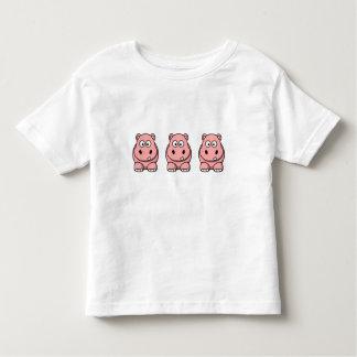 Cute Pink Hippo Shirts