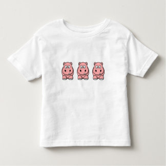 Cute Pink Hippo Toddler T-Shirt