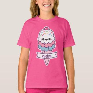 Cute Pink Ice Cream Cone T-Shirt