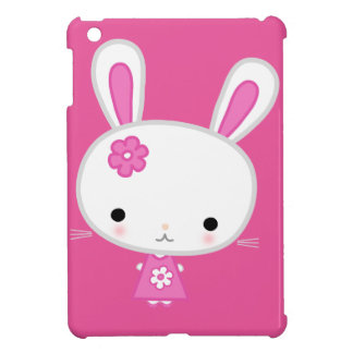 Cute Pink Kawaii Bunny iPad Mini Covers