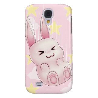 Cute pink Kawaii Bunny rabbit falling from stars Samsung Galaxy S4 Cases