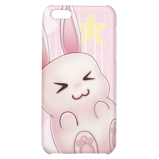 Cute pink Kawaii Bunny rabbit falling from stars iPhone 5C Cases