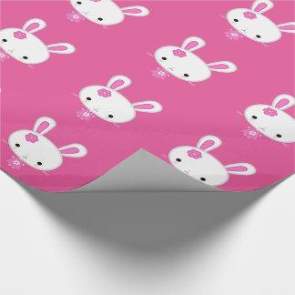 Cute Pink Kawaii Bunny Wrapping Paper