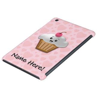 Cute Pink Kawaii Happy Face Cupcake Girls iPad Mini Retina Covers
