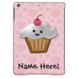 Cute Pink Kawaii Happy Face Cupcake Girls Case For iPad Air