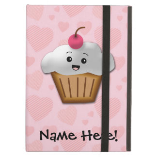 Cute Pink Kawaii Happy Face Cupcake Girls Case For iPad Air