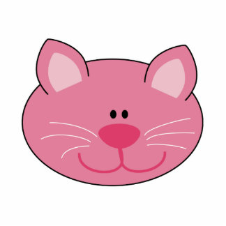 Cute Pink Kitty Cat Photo Cut Out