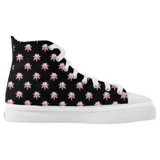 Cute Pink Lotus Flower High Tops