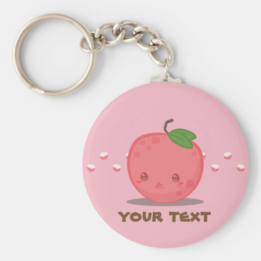 Cute Pink Lychee Fruit Keychain