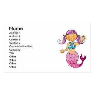Cute pink mermaid pack of standard business cards