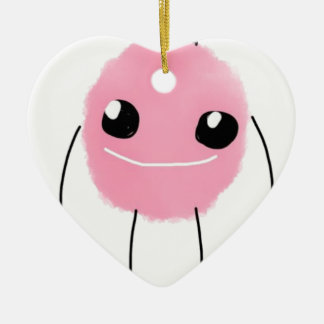 Cute Pink Monster Christmas Ornament