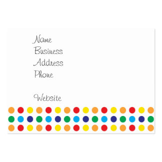 Cute Pink Monster on Polka Dots Pack Of Chubby Business Cards
