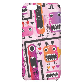 Cute pink monsters iphone case cover for iPhone 5C