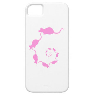 Cute Pink Mouse Design. Spiral of Mice. iPhone 5 Case