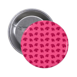 Cute pink mushroom pattern 6 cm round badge