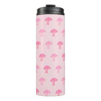Cute Pink Mushroom Thermal Tumbler
