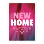 Cute pink new home housewarming invitation