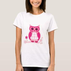 Cute Pink Owl Apparel T-Shirt