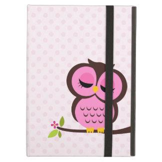 Cute Pink Owl iPad Air Cover