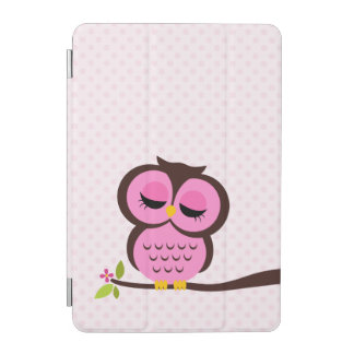 Cute Pink Owl iPad Mini Cover