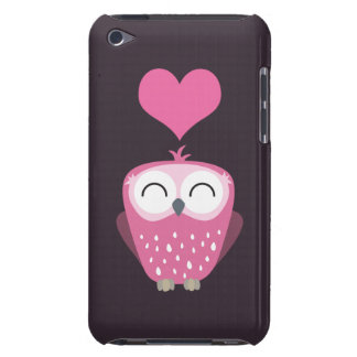 Cute Pink Owl & Love Heart iPod Touch 4 iPod Touch Case-Mate Case