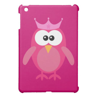 Cute Pink Owl Princess iPad Mini Covers