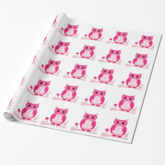 Cute Pink Owl Wrapping Paper