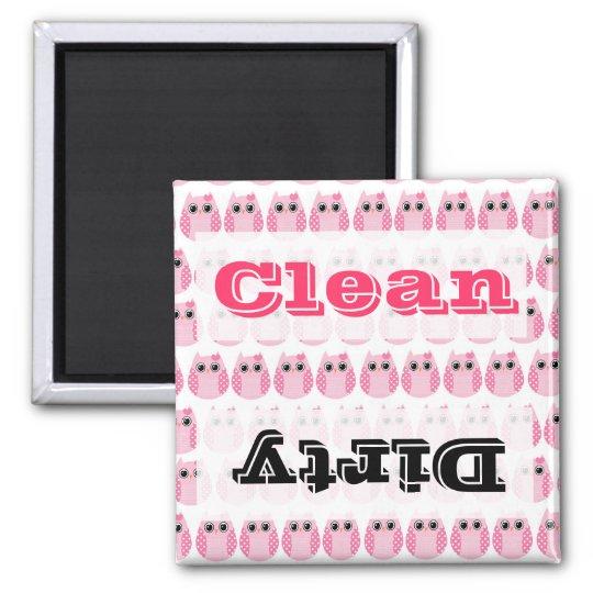 Cute Pink Owls Kitchen Decor Accessories Square Magnet