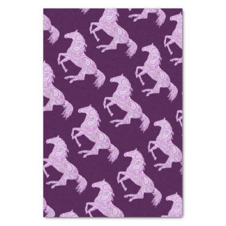 Cute Pink Paisley Horse Tissue Paper