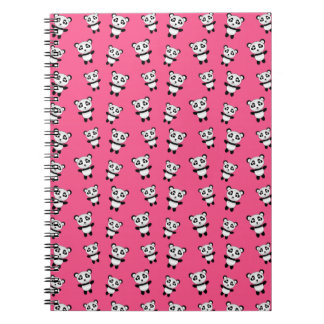 Cute pink panda pattern notebook
