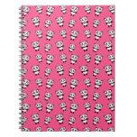 Cute pink panda pattern notebooks