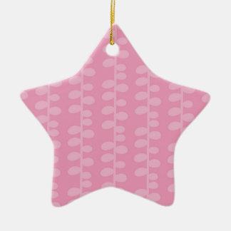 Cute Pink Pastel Retro Pattern Christmas Ornaments