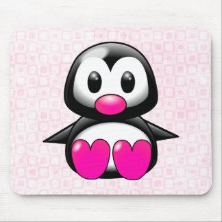 Cute Pink Penguin Mouse Mat