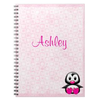 Cute Pink Penguin Notebook