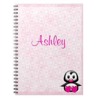 Cute Pink Penguin Notebooks
