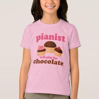 Cute Pink Piano Kids T-shirt