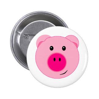 Cute Pink Pig 6 Cm Round Badge