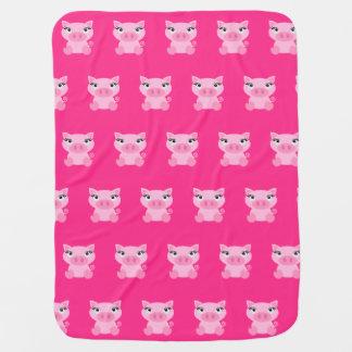 Cute Pink Pig Baby Blanket