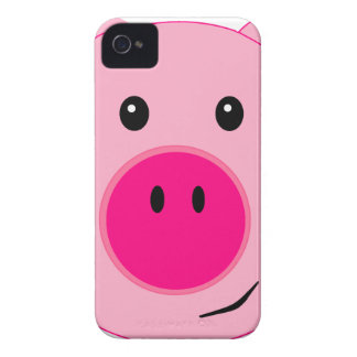 Cute Pink Pig Case-Mate iPhone 4 Cases