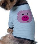 Cute Pink Pig Dog Tshirt