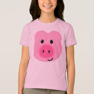 Cute Pink Pig Front/Back T-shirt