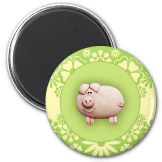 Cute Pink Pig Refrigerator Magnets