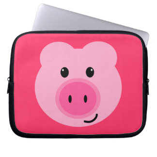 Cute Pink Pig Neoprene Laptop Sleeve