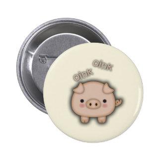 Cute Pink Pig Oink 6 Cm Round Badge