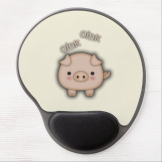 Cute Pink Pig Oink Gel Mouse Mat