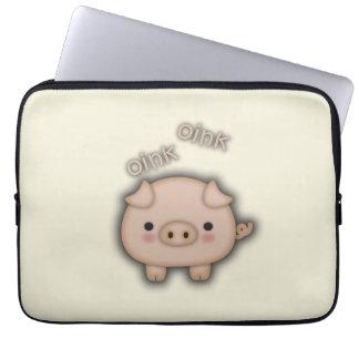 Cute Pink Pig Oink Laptop Sleeve