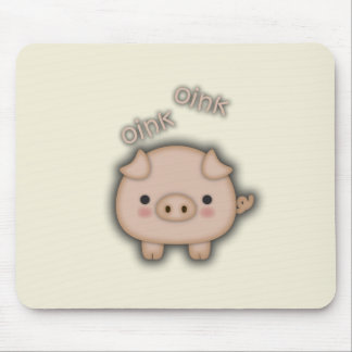 Cute Pink Pig Oink Mouse Pad