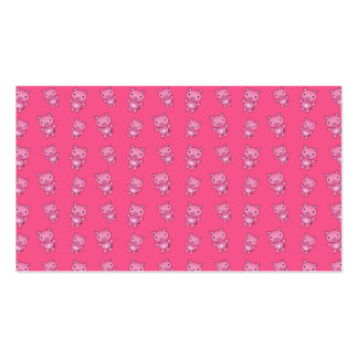 Cute pink pig pattern business cards