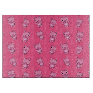 Cute pink pig pattern cutting board