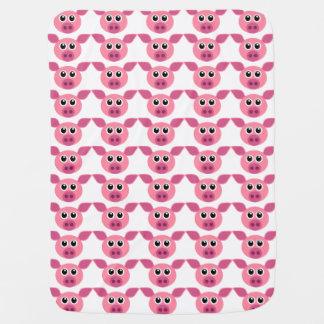 CUTE PINK PIG PATTERN DESIGN BABY BLANKET